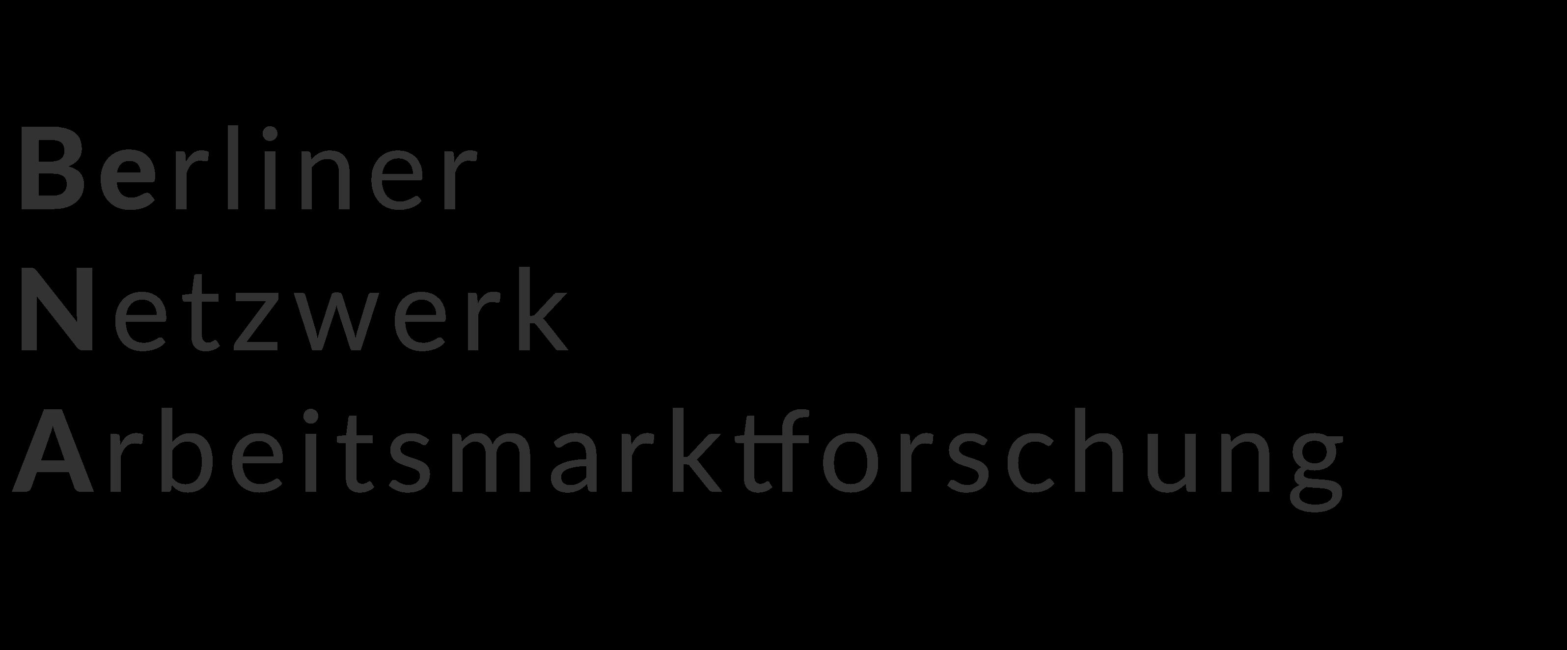 BeNA Berliner Netzwerk Arbeitsmarktforschung